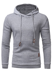 Ericdress Lace-Up Long Sleeve Mens Pullover Hoodie фото