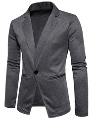 Ericdress Lapel Fit One Button Mens Casual Blazer