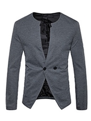 Ericdress V-Neck Fit Casual Mens Blazer