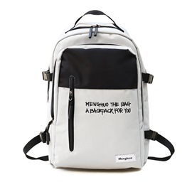Ericdress Simple Color Block Oxford Backpack