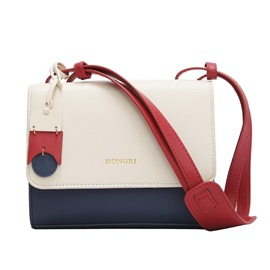 Ericdress Color Block PU Crossbody Bag