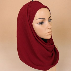 Ericdress Pure Color Solid Color Chiffon Headscarf for Women