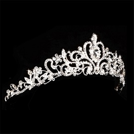 Ericdress White Bride Wedding Tiara