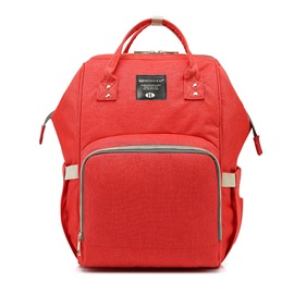 Ericdress Casual Solid Color Oxford Zipper Backpack