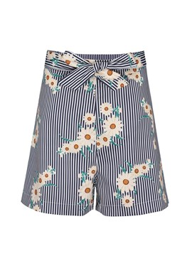 Ericdress Loose Stripe Floral Women's Shorts
