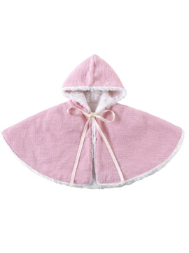 Ericdress Fleece Hooded Baby Girls' Cape Coat