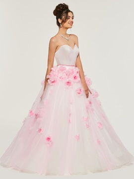 Ericdress Sweetheart Flower Applique Ball Quinceanera Dress