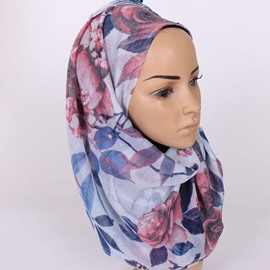 Ericdress Voile Printed Long Scarf for Women