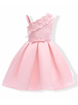 Ericdress Applique Patchwork Sleeveless Girl's Princess Dress