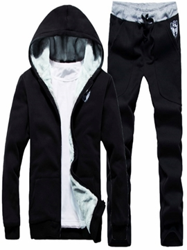 Ericdress Zipper Cardigan Hoodies & Pants Mens Sports Suits