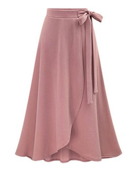 Ericdress A-Line Pleated Asymmetric Women's Skirt