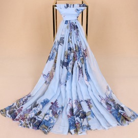 Ericdress Butterfly&Flower Printed Long Scarf