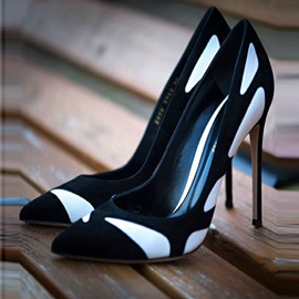 Ericdress Color Block Slip-On Low-Cut Stiletto Heel Pumps