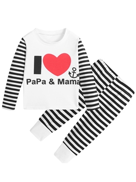 Ericdress Stripe Print Unisex Baby's Outfit