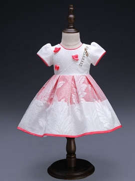 Ericdress Floral Print Ball Gown Baby Girls' Dress