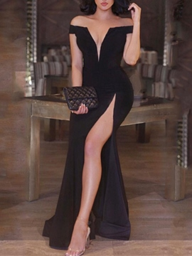 Ericdress Off-the-Shoulder Split-Front Sexy Evening Dress