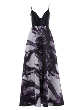 Ericdress Spaghetti Straps Printed A Line Evening Dress