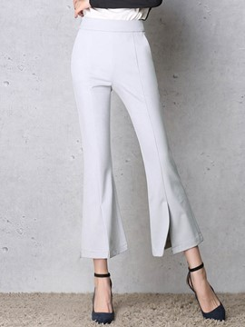 Ericdress Slim Plain Woemn's Bellbottoms