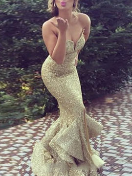 Ericdress Sweetheart Sequin Layers Mermaid Evening Dress