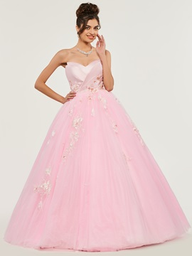 Ericdress Sweetheart Applique Ball Quinceanera Dress