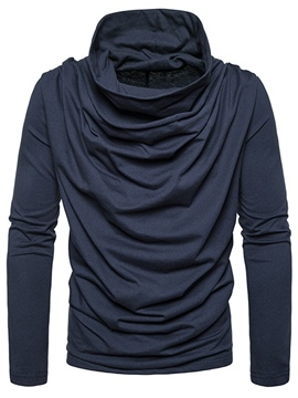 Ericdress Plain Heap Collar men's Slim Fit Pullover Sweaters