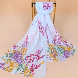 Ericdress Colorful Printed Chiffon Scarf for Women