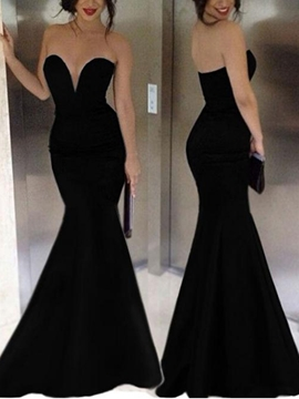Ericdress Sexy V-neck Floor-Length Mermaid Evening Dress