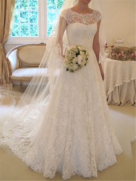 Ericdress Beautiful A Line Lace Wedding Dress
