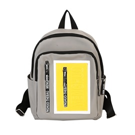 Ericdress Casual Color Block Unisex Nylon Backpack