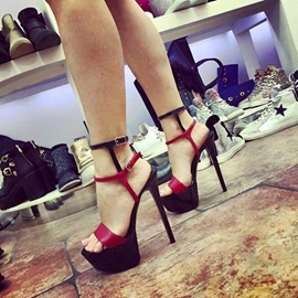 Ericdress Ankle Strap Open Toe Platform Stiletto Sandals
