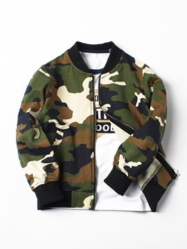 Ericdress Military Camouflage Zipper Boys' Jacket