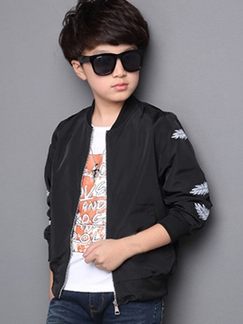 Ericdress Stylish Feather Print Zipper Boys' Jacket