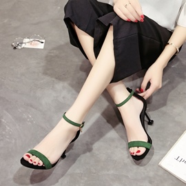 Ericdress Open Toe Low-Cut Plain Stiletto Sandals
