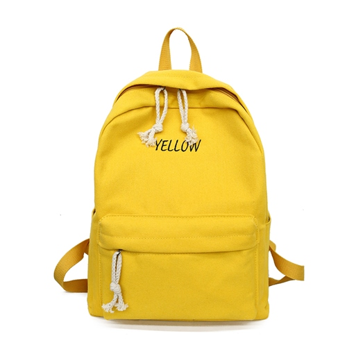 Ericdress Solid Color Canvas Women Backpack