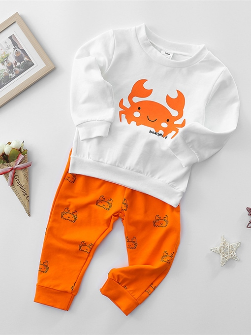 Ericdress Crab Cartoon Print Baby Boys' Outfit