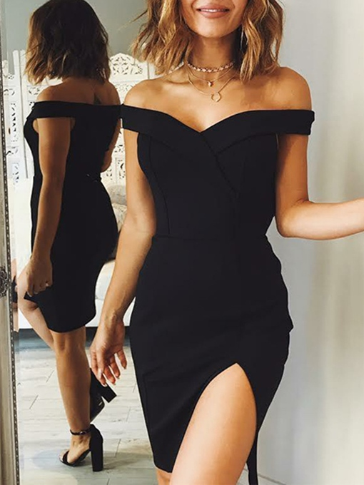 Ericdress Sexy Sheath Off The Shoulder Bodycon Homecoming Dress