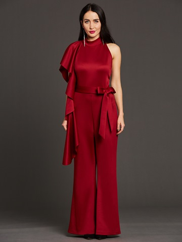 Ericdress Ruffles Wide Leg Women's Jumpsuit
