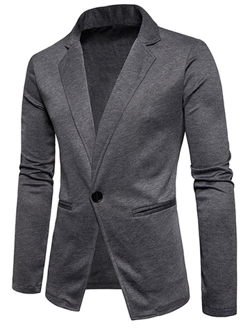 Ericdress Lapel Fit One Button Men's Casual Blazer