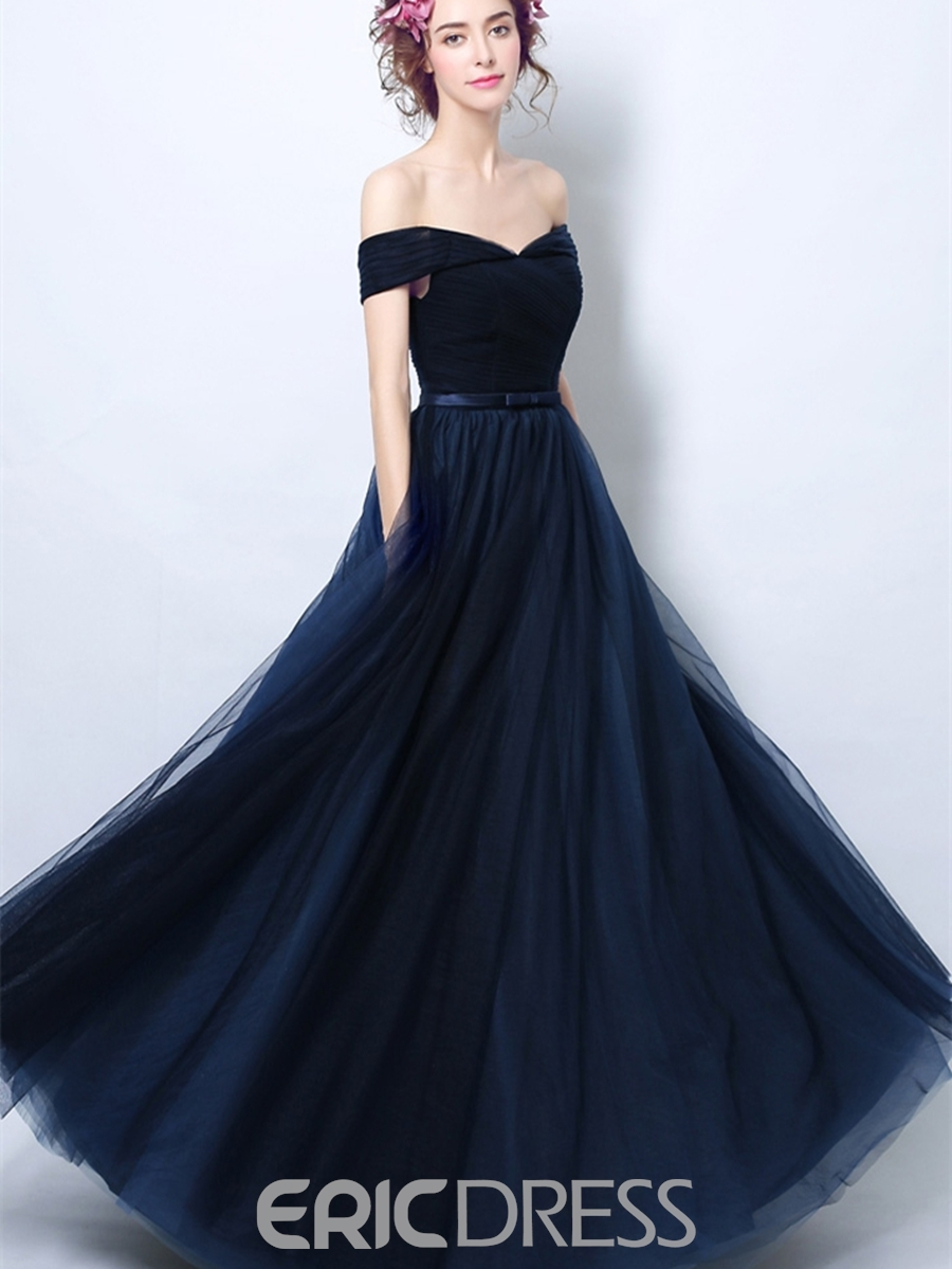 93f8e7eaf8d Ericdress A Line Off Shoulder Short Sleeve Evening Dress 13160810 ...