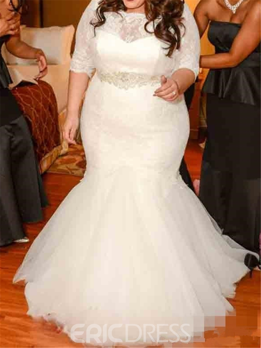 Ericdresss Beautiful Lace Mermaid Plus Size Wedding Dress 11653764 ...