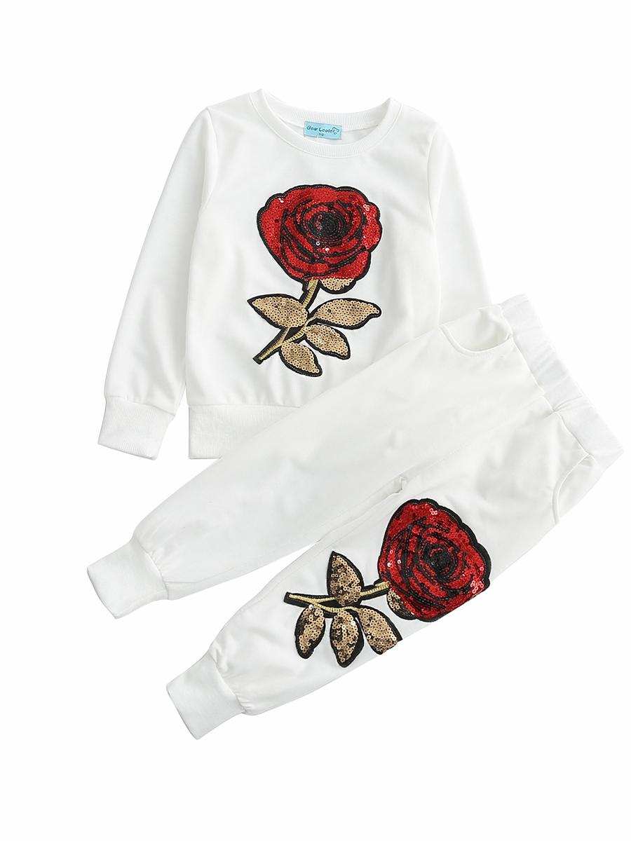 Ericdress Floral Embroidery Cotton Girls' Outfit