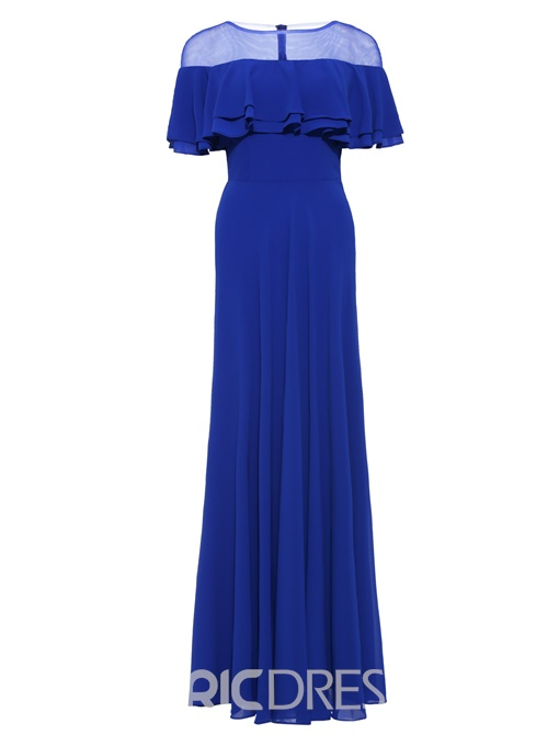 Ericdress Scoop Neck A Line Long Evening Dress
