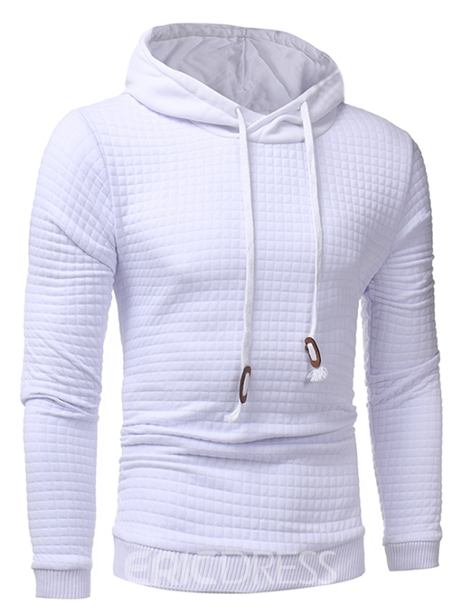 Ericdress Lace-Up Long Sleeve Men's Pullover Hoodie