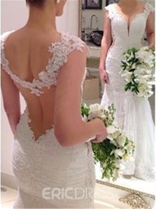 Ericdress Sexy Backless Mermaid Wedding Dress