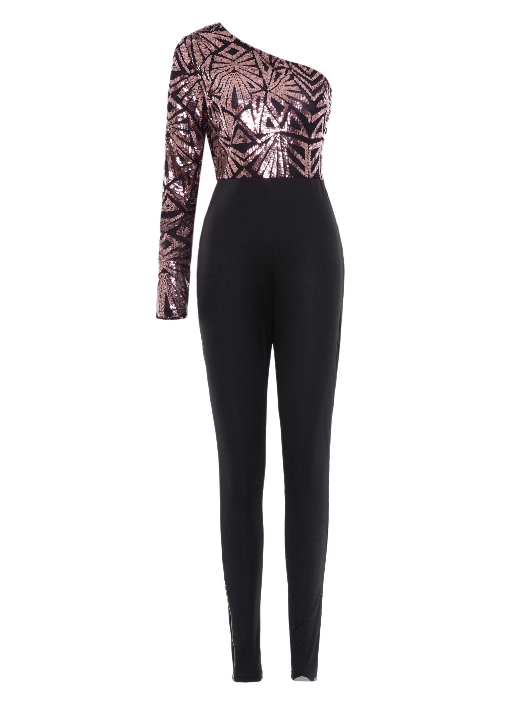 Ericdress Oblique Collar Tight Sexy Women's Jumpsuits