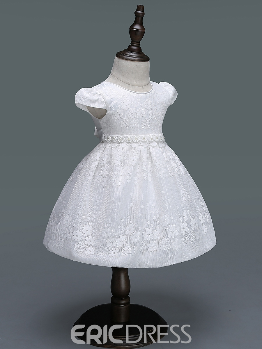 Ericdress Floral Embroidery Ball Gown Girls' Dress