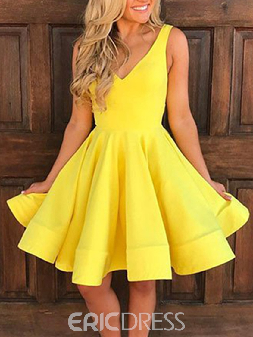 Ericdress A Line V Neck Knee Length Homecoming Dress