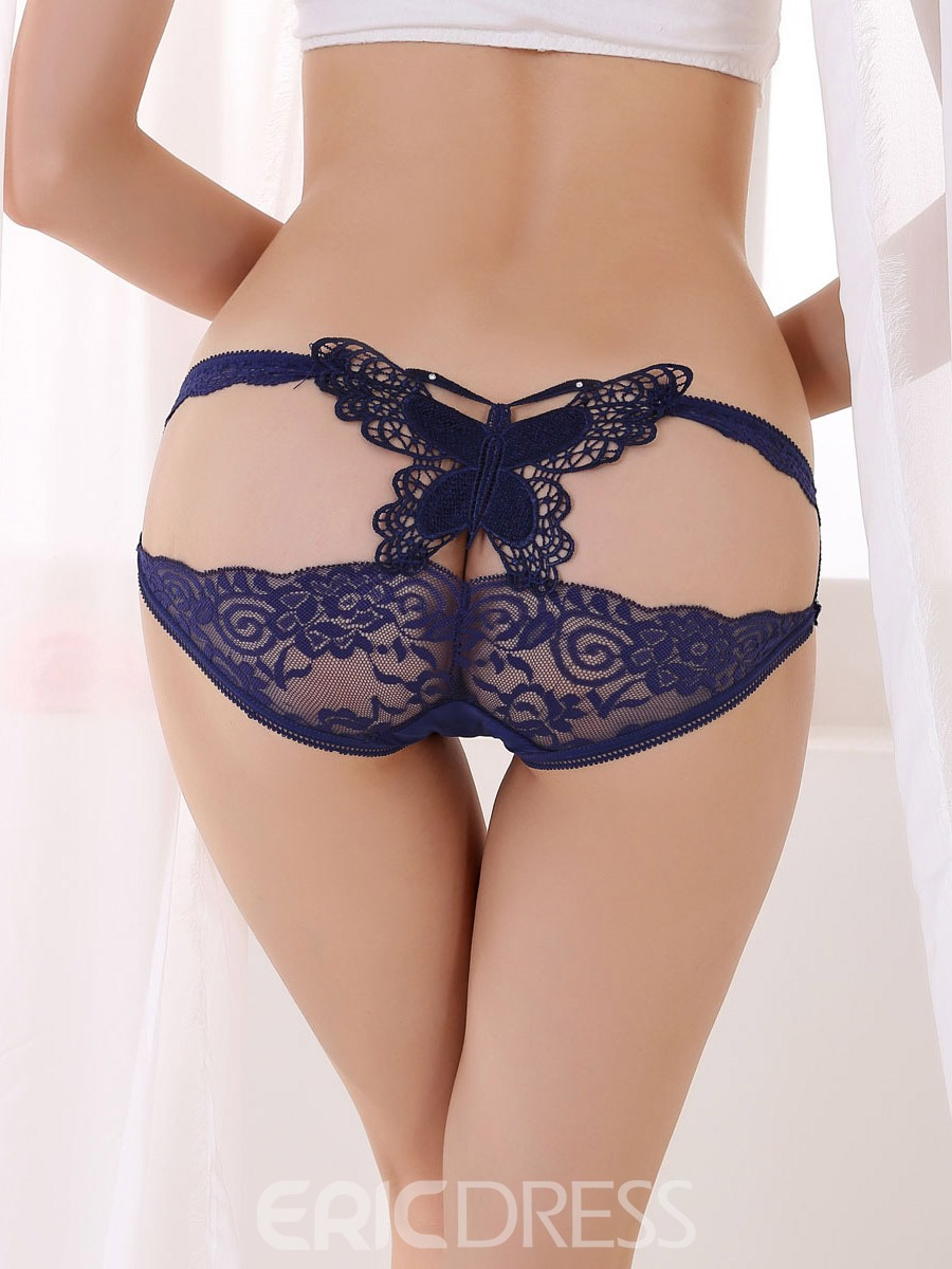 Ericdress Plain Lace Cute Bowknot Panty