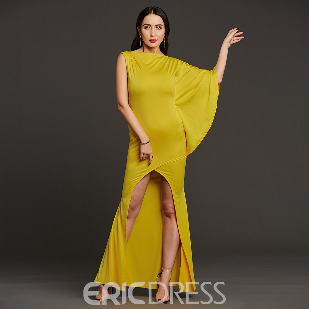 Ericdress One-Shoulder Asymmetric Side Slit Women's Maxi Dress