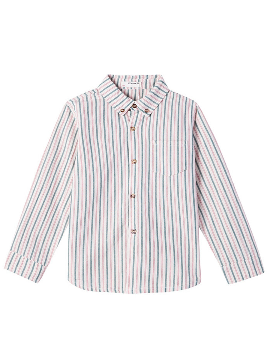 Ericdress Lapel Vertical Stripe Single-breasted Boys' Shirt